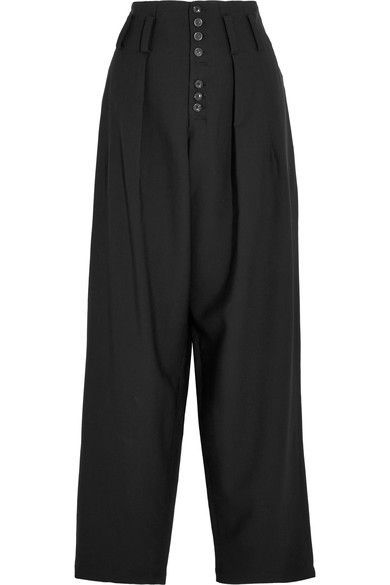JOSEPH HOWARD STRETCH-GABARDINE WIDE-LEG PANTS. #joseph #cloth #