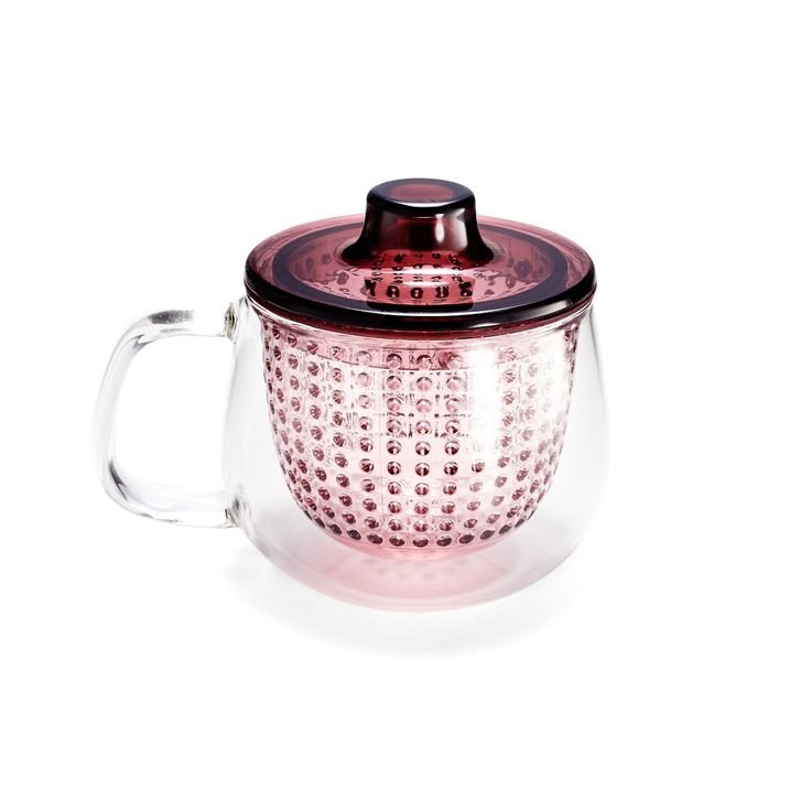 For a good morning - Unimug Red Teapot with Lid Strainer     Abc home