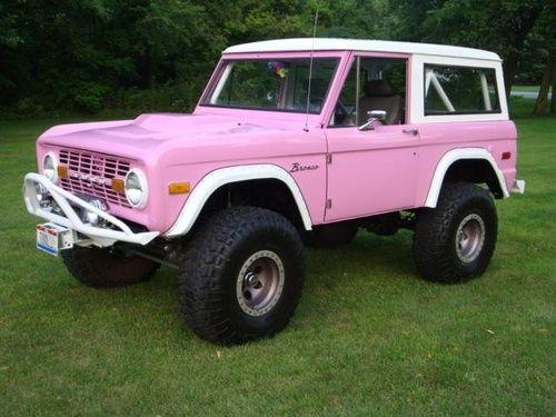 Pink Vintage Ford Bronco