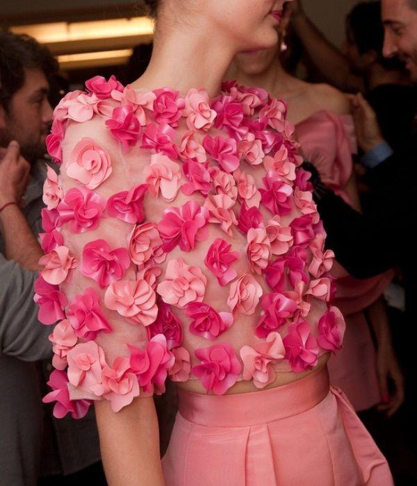 diy inspo: flower sweater from oscar de la renta nyfw ...
