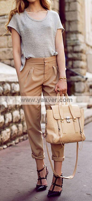 #Leather Satchel Crossbody Handbag