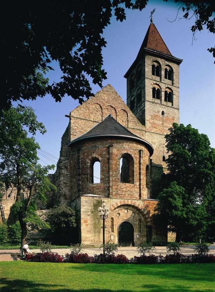 Die wunderschöne Stiftsruine in Bad Hersfeld in Nordhessen, Hessen, Deutschland