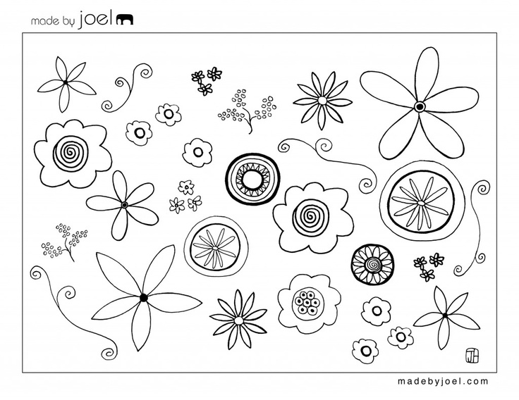 Little flower coloring printable page for kids | Coloring Pages Of Little Flowers  | title
