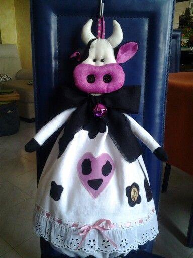 Mucca porta sacchetti (regalo)