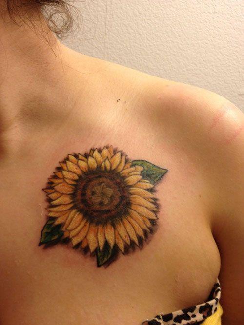 35 Inspiring Sunflower Tattoo Designs   Tattoo designs ...