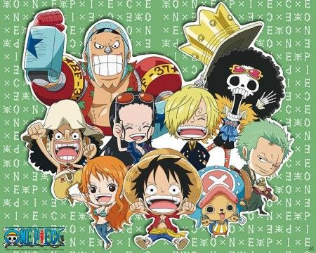 Poster affiche One Piece Personnages SD