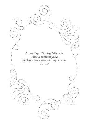 Ornare Paper Piercing Pattern A CU4CU on Craftsuprint designed by Mary Jane Harris - Ornare is so simple and effective! It is the art of using special patterns to embellish your card projects. Borders and corners pricked using Ornare templates add a beautiful accent to your regular card making. The patterns can be used over and over again making them an economical purchase that is also suitable for Scrapbooking as well. With just a needle tool, or a sewing needle and a foam pad underneath…
