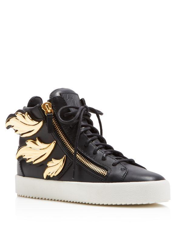 Giuseppe Zanotti Maylondon Zipper Lace Up High Top Sneakers