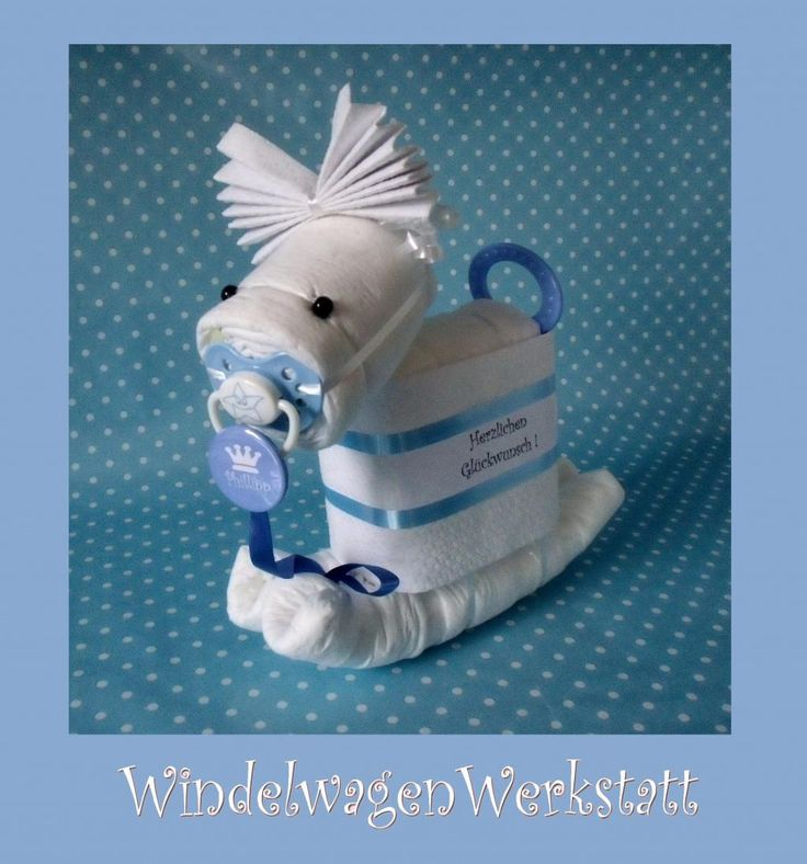 BABY SHOWER~ ROCKING HORSE DIAPER CAKE