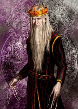 """Aerys II Targaryen (243AC - 283AC), Successor of Jaehaerys II and King of the Seven Kingdoms (262AC - 283AC). Son of Jaehaerys II. Known as """"The Mad King"""". Although his reign began with peace and prosperity, he descended into madness following his capture and imprisonment during the Defiance of Duskendale. He was overthrown by Robert Baratheon and Eddard Stark during Robert's Rebellion. The last of the Targaryen Kings in Westeros and father of Rhaegar, Viserys and Daenerys."""