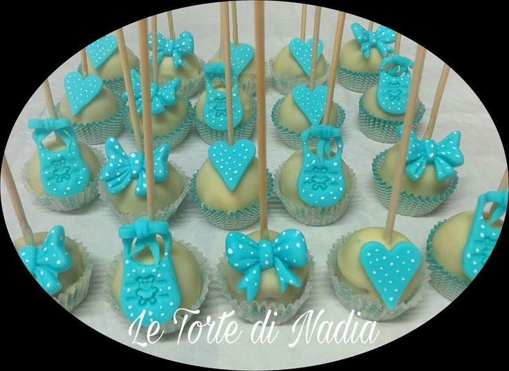 """Cake Pops """"Battesimo"""" Info: 389 9355816 anche WhatsApp #Cakepopsbattesimo #babyshowercakepops #torteartistiche #torte #cakepops #tortebambini"""