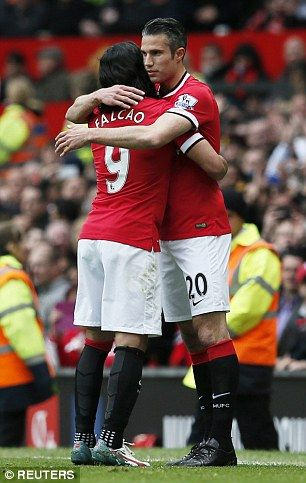 Falcao was replaced on the hour mark by Robin van Persie