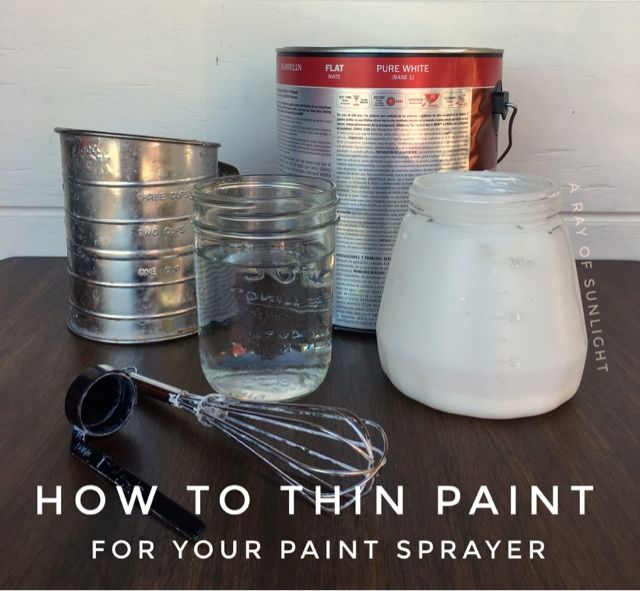 Pin for later! How to easily thin paint for your paint sprayer. The best tool for painting furniture!