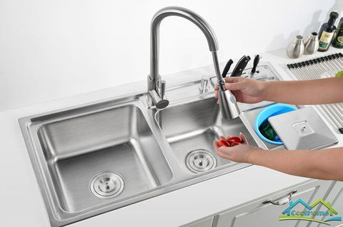This kitchen sink is must have because it is made to make your cooking experience convenient. this sink comes with a whole package of must have products. you do not need to by a whole different products for your kitchen. This kitchen sink is easy to use and to clean.