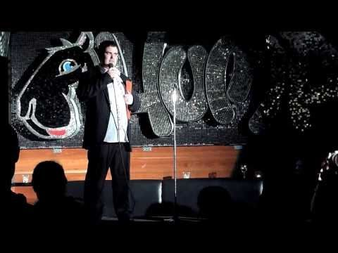 A short sample of Richard Lindesay's stand-up comedy.