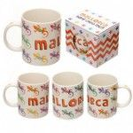 Mug design Mallorca avec Lézards