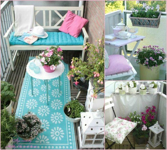 17 best images about balkonm bel balkonpflanzen for Blaue blumentopfe