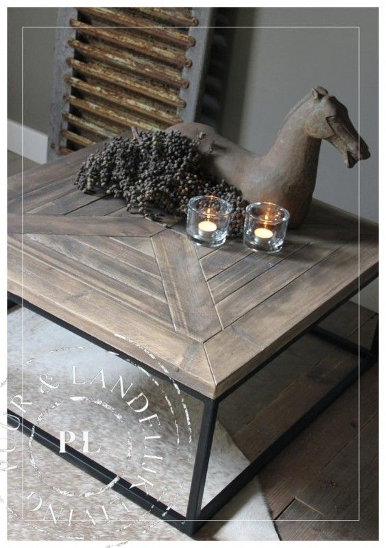 Maatwerk / landelijke salontafel / PERFECTLY / old wood
