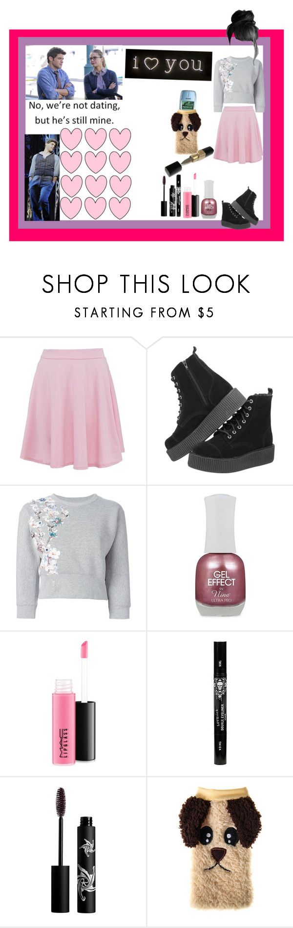 """""""yes he's mine."""" by thin-mint on Polyvore featuring T.U.K., Philipp Plein, Charlotte Russe, MAC Cosmetics, Rouge Bunny Rouge, Villain and Seletti"""