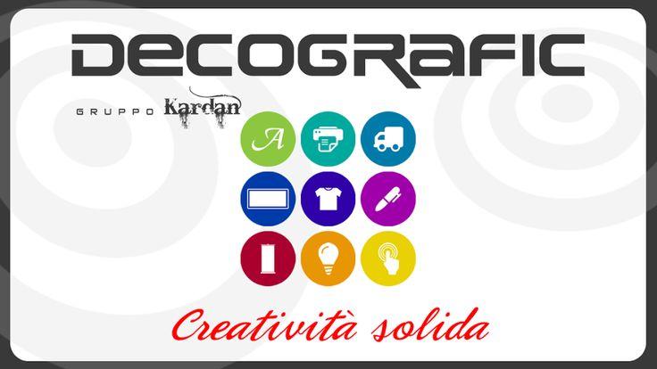 Decografic Gruppo Kardan è creatività solida: stampa, grafica, pubblicità e web a Genova dal 2005. www.decografic.com
