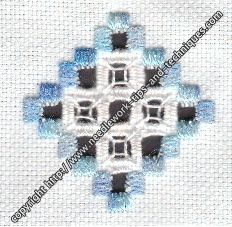 Hardanger needlework course- lesson one-- a very easy and very small hardanger pattern...good starting point.