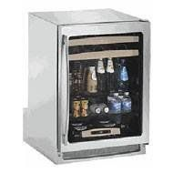 U-Line : 2175BEVS-00 24 Beverage Center by U-Line. $1836.49. This beverage center offers 6 cubic feet of refrigeration capacity for up to 127 beverages. Two maple-trimmed sliding shelves hold 16 wine bottles, and two removable glass shelves hold 48 bottles (12 oz) and 63 cans (12 oz).  Optimal serving temperatures for white wine (45??°F) and beverages (38??°F) are consistently maintained with Touch Control Digital Technology, making it easy to set and view interna...