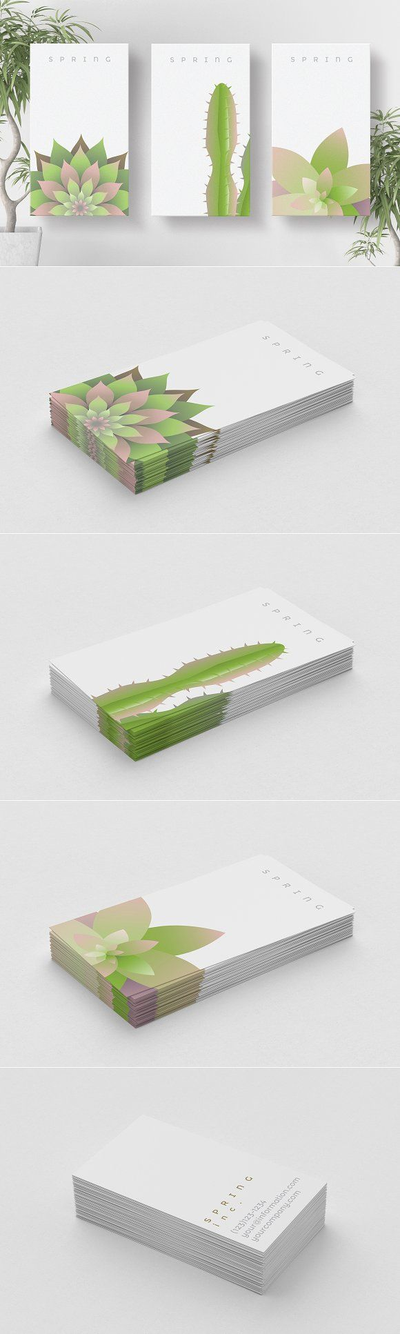 Spring business card templates by Polar Vectors on @creativemarket