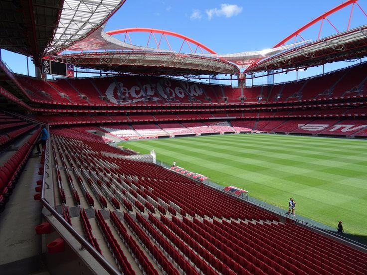 Estádio da Luz, het stadion van Benfica. Hier kan je een mooie stadiontour doen. Aanrader!
