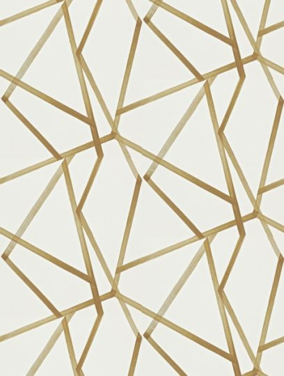 Sumi Ivory/Mustard, a feature wallpaper from Harlequin, featured in the Momentum 3 Wallpapers collection.