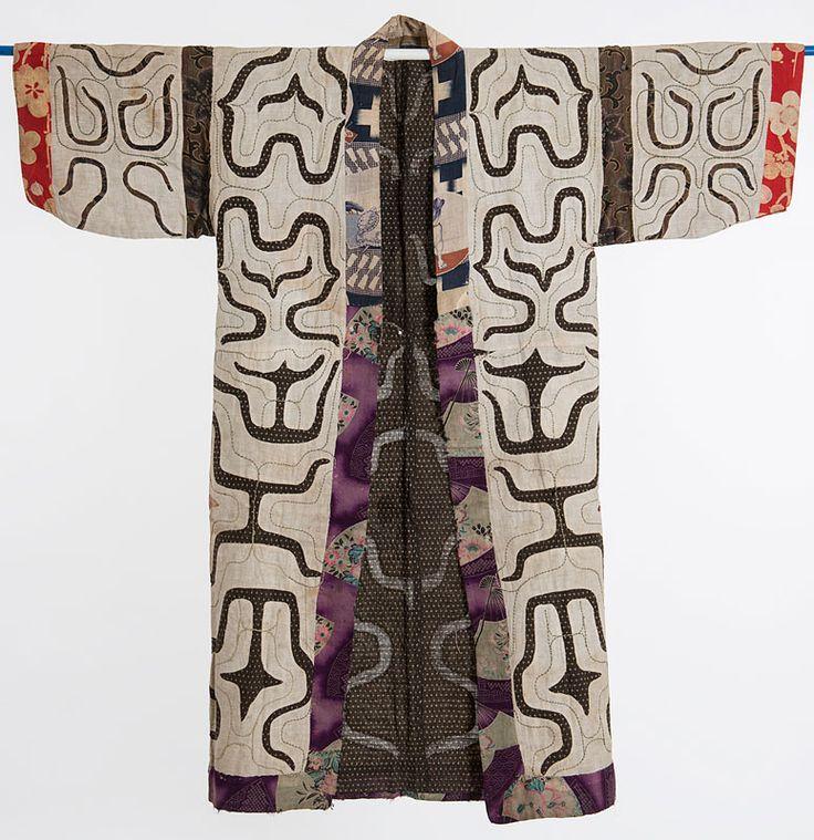 Kimono från utställningen Sashiko - japanska stygn. (Foto Björn Grankvist)