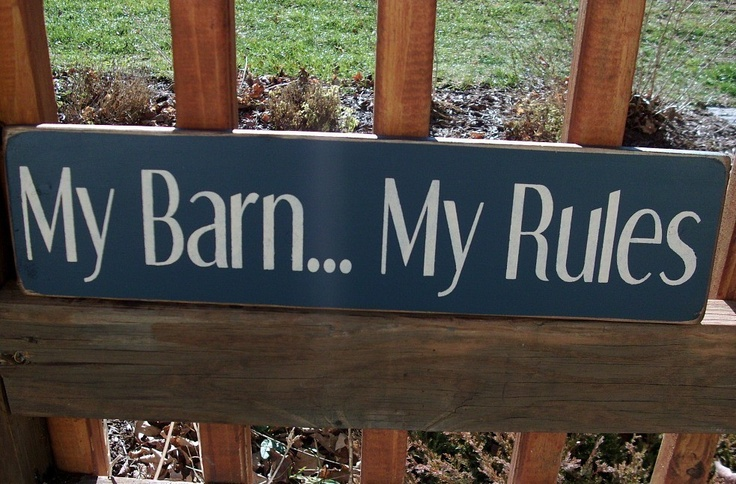 primitive signs for the barn | My BarnMy Rules Wood Sign Country by BedlamCountryCrafts on Etsy