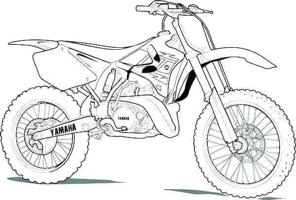 Yamaha Dirt Bike Coloring Pages Bike Drawing, Dirt Bike Tattoo, Motorbike  Drawing