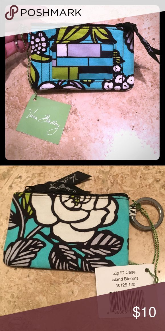 Vera Bradley luggage tag *NWT* Turquoise, White, black & lime green luggage tag by Vera Bradley Vera Bradley Accessories