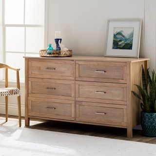 Olympus Natural Six-Drawer Dresser - Free Shipping Today - Overstock.com - 80004974 - Mobile