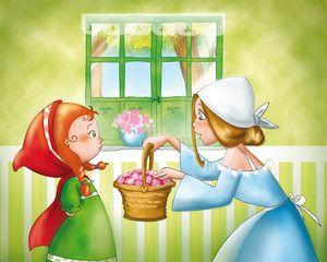 Illustrazione: Cappuccetto Rosso e la mamma