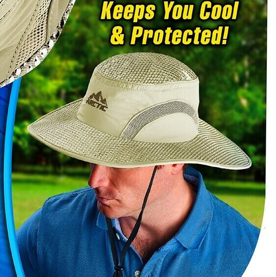 Arctic Hat Evaporative Cooling Brimmed One Size Uv Sun Protection