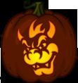 Bowser pumpkin pattern - Super Mario Bros Pumpkin Carving Patterns    Bowser Pumpkin Carving Patterns