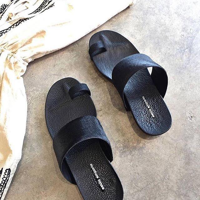 Love love love the Estilo Emporio  raw pony slide ❤️ available in Black and Cognac... . . . #estiloemporio #leather #slides #fashionaddict #styleblogger #shoes #shoeaddict #shoelover #summer #fashion #summer16 #shoeoftheday