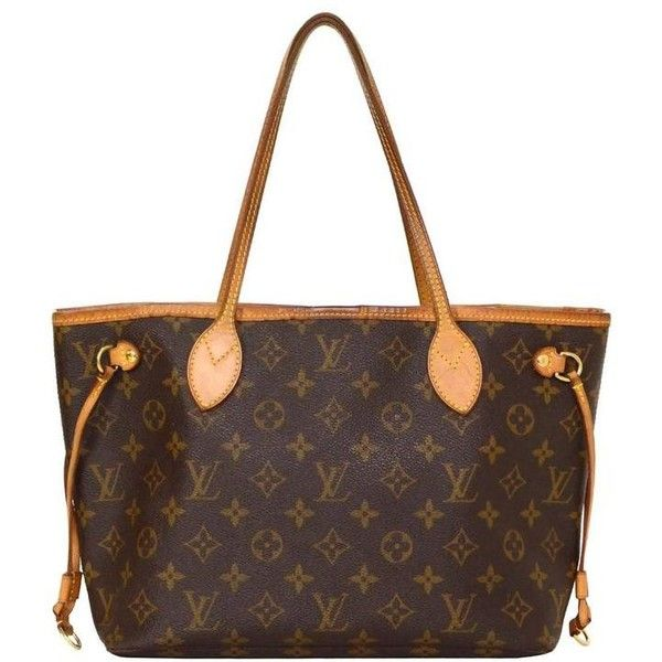 Preowned Louis Vuitton Monogram Canvas Neverfull Pm Tote Bag Ghw (100.620 ISK) ❤ liked on Polyvore featuring bags, handbags, tote bags, multiple, canvas tote bag, zippered tote, white tote bag, tote handbags and monogrammed canvas tote bags