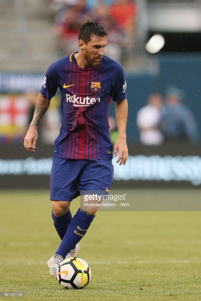 Lionel Messi of FC Barcelona during the International Champions Cup 2017 match between Juventus and FC Barcelona at MetLife Stadium on July 22, 2017 in East Rutherford, New Jersey.