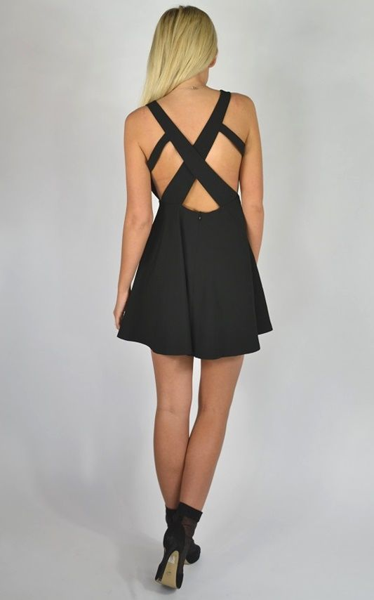Cross-Your-Heart dress.  www.trendylulu.com Get it in Red, Black or Mint. 10% off all orders over $50. Free Standard Shipping.