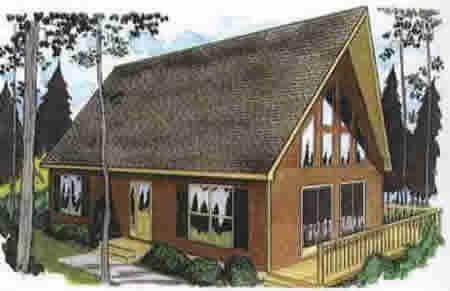 C124721-2 by Hallmark Homes Cape Cod Floorplan