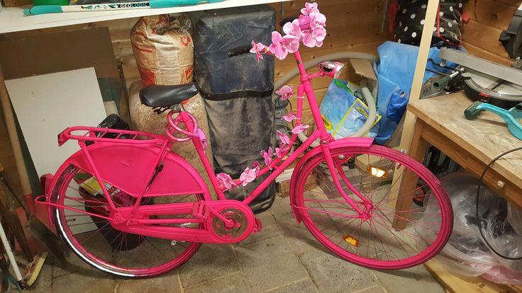 Roze fiets