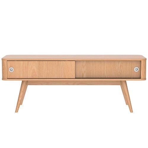 Stockholm 120cm Entertainment Unit - Scandinavian Furniture - Oak 8% OFF   $439.00 - Milan Direct