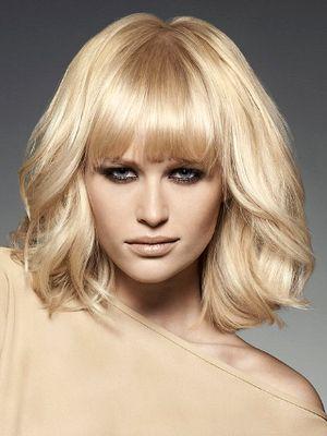 Swingy mid-length haircut with bangs