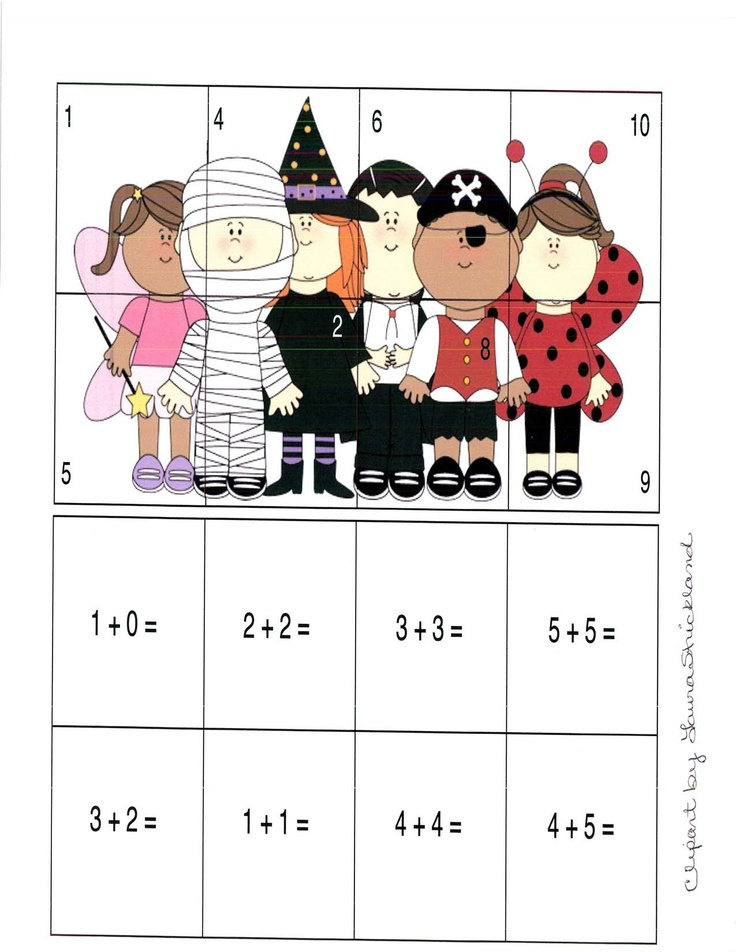 NUMBER OPERATION AND CONNECTIONS: Children develop fluency wiht basic numbe combinations with addition. They also apply mathematics during puzzle. I would change the addtion numbers.