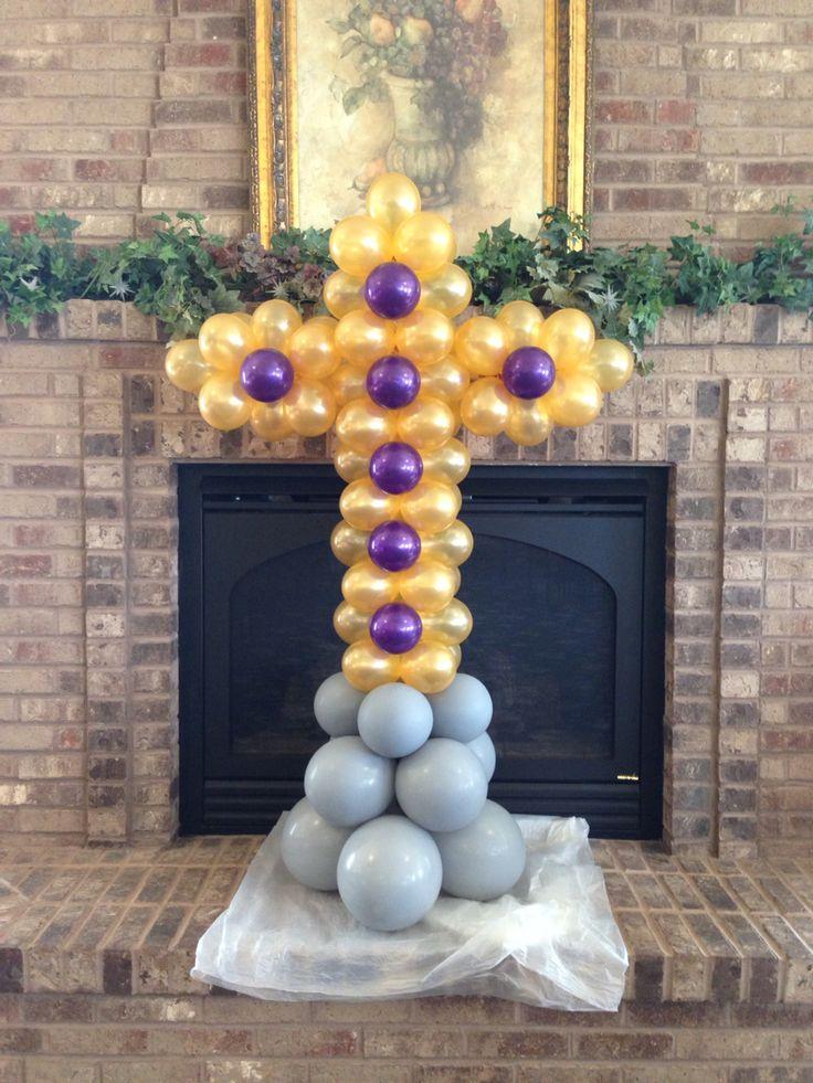 Beautiful cross! | Balloon Ideas - Holidays | Communion ...