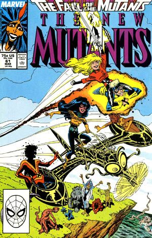 My first Marvel comic: The New Mutants!!