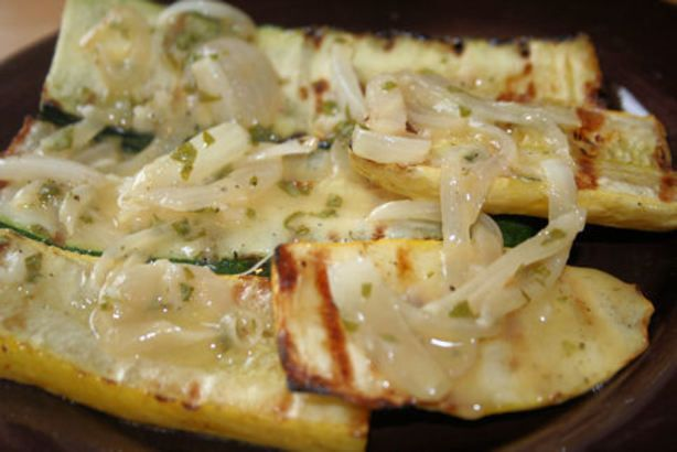 When grilling up all those lovely summer veggies why not try adding a sweet onion vinaigrette for a nice change.