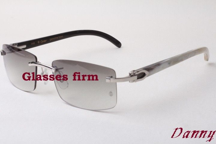 Hot, rimless sunglasses, white and black mixed horns, 3524012 sunglasses, Size: 54-18-140mm Check more at http://clothing.ecommerceoutlet.com/products/hot-rimless-sunglasses-white-and-black-mixed-horns-3524012-sunglasses-size-54-18-140mm/